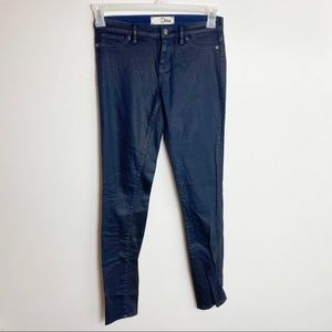 Dittos Navy Blue Wax Skinny Jeans Size 26